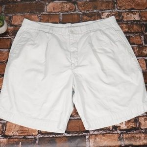 Dockers Light Grey Pleated Golf Shorts Khaki 38W